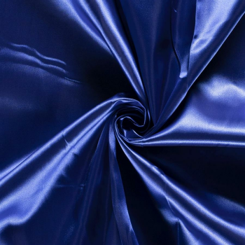 Satin Stoff royalblau